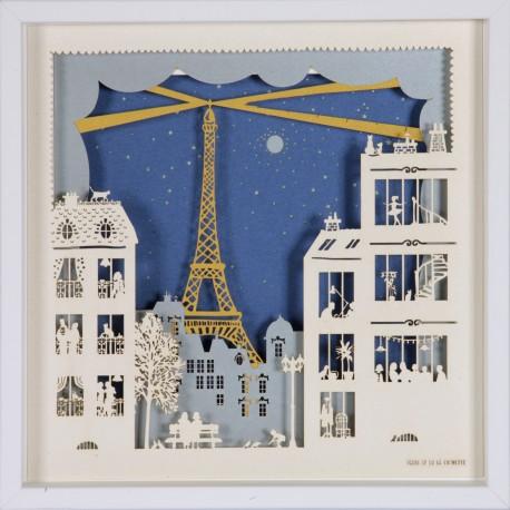 """Tableau """"Paris la nuit"""" 25x25 cm"""