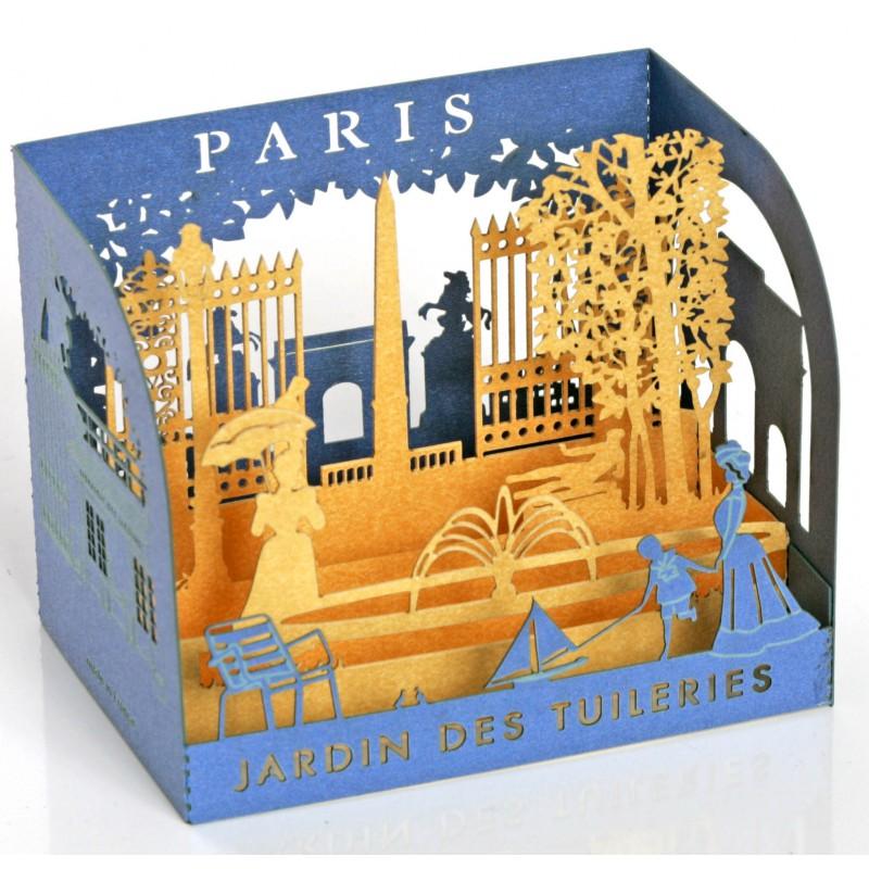 diorama en papier d coup au laser paris jardin des tuileries. Black Bedroom Furniture Sets. Home Design Ideas