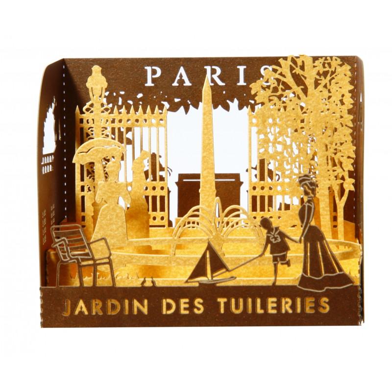 Diorama en papier d coup au laser paris jardin des for Au jardin des tuileries