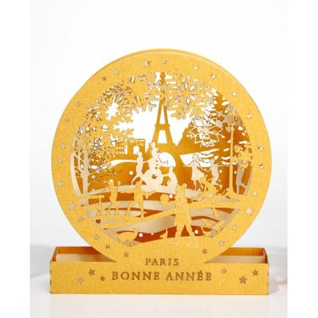 Cercle 3D - Bonne Année- Paris en Hiver - 100 mm