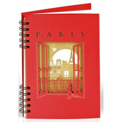 "Carnet ""Toits de Paris"" - Rouge"