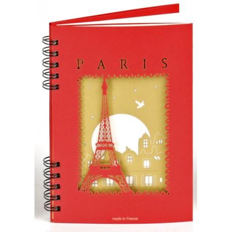 """Carnet """"Tour Eiffel"""" - Rouge"""