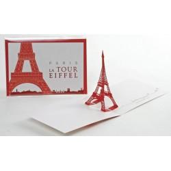 """Carte """"Tour Eiffel Rouge"""""""