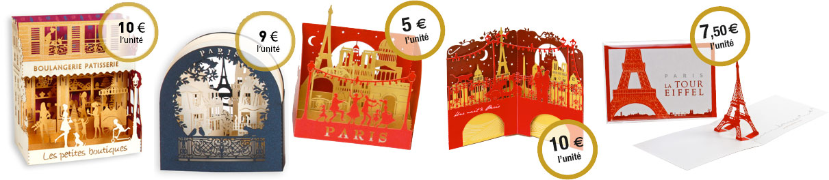cartes dépliantes, cartes pop-up et cartes d'anniversaire